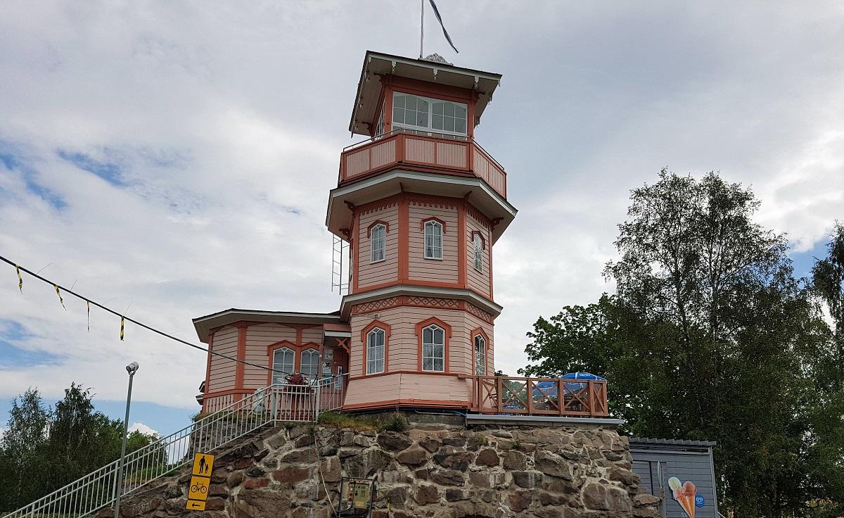 De stad Oulu in Finland