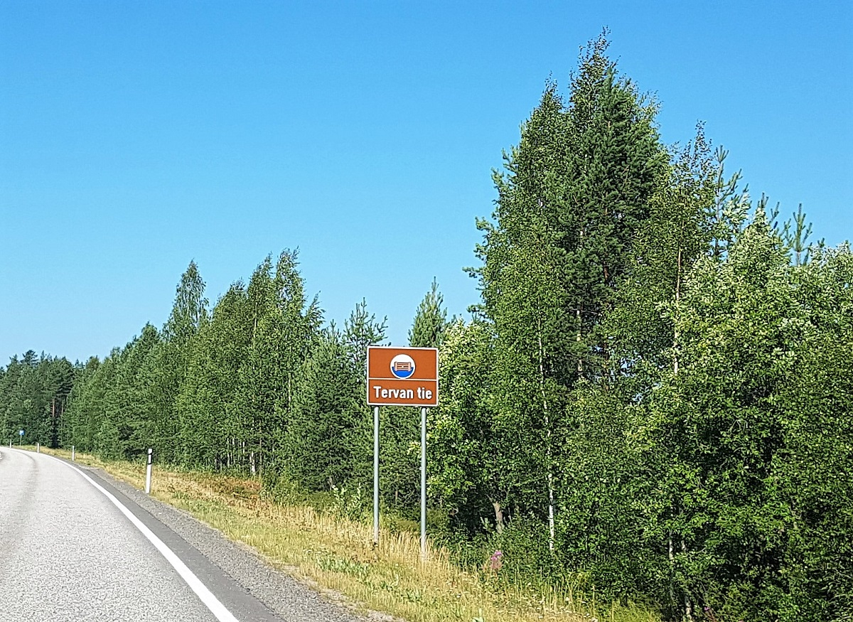 Teerroute in Finland Tervan Tie