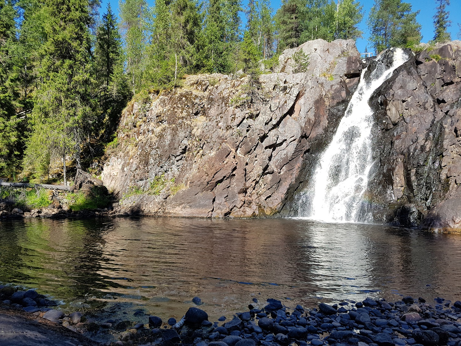 Hepokongas waterval in Finland