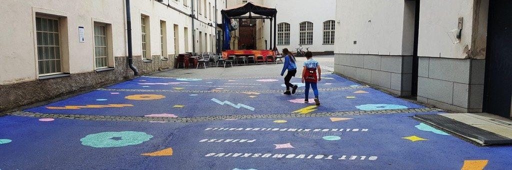 Finlayson Art Area met kinderen