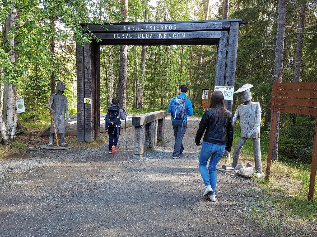 wandelen in nationaal park oulanka