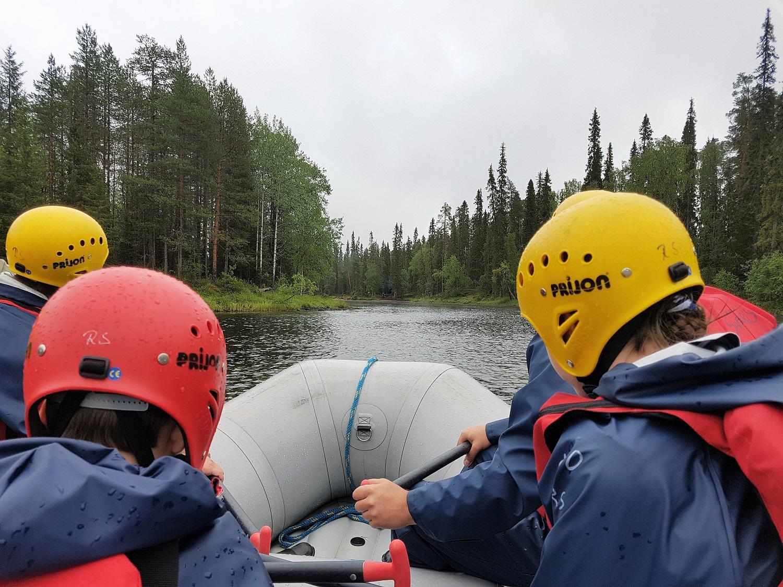 raften met kinderen in finland