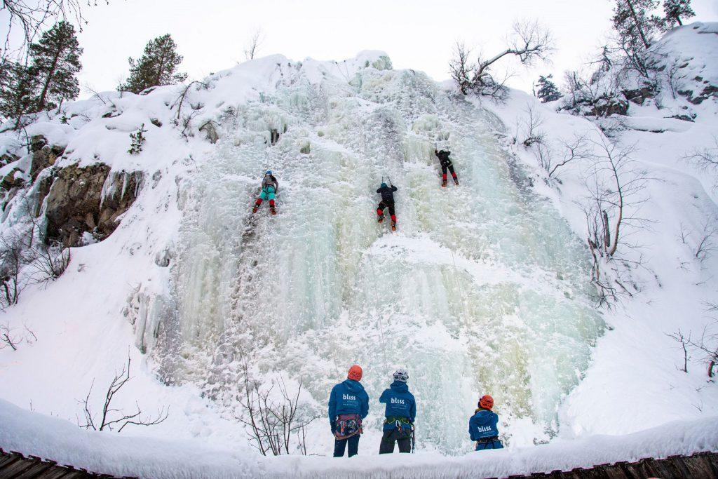 ijsklimmen in Finland