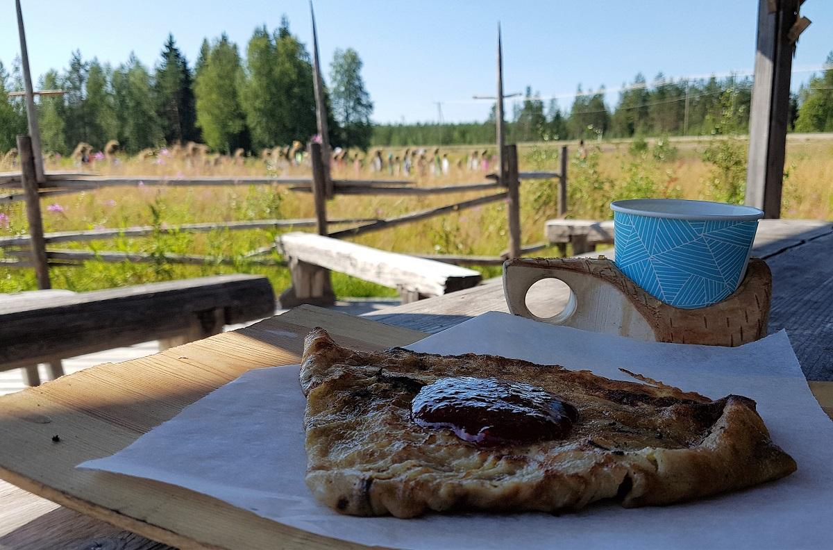 Zomervakantie in Finland pannenkoek